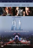 Artificial Intelligence: AI - Polish DVD movie cover (xs thumbnail)
