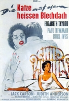 Cat on a Hot Tin Roof - German Movie Poster (xs thumbnail)
