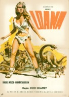One Million Years B.C. - Romanian Movie Poster (xs thumbnail)
