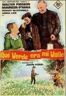 How Green Was My Valley - Spanish Movie Poster (xs thumbnail)