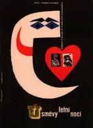 Sommarnattens leende - Czech Movie Poster (xs thumbnail)