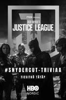 Zack Snyder's Justice League - Finnish Movie Poster (xs thumbnail)