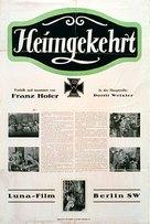 Heimgekehrt - German Movie Poster (xs thumbnail)