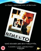 Memento - British Blu-Ray movie cover (xs thumbnail)