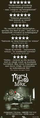Mary and Max - Danish Movie Poster (xs thumbnail)