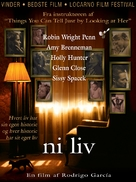 Nine Lives - Danish Movie Poster (xs thumbnail)