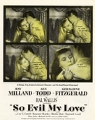 So Evil My Love - British Movie Poster (xs thumbnail)