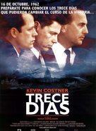 Thirteen Days - Spanish Movie Poster (xs thumbnail)