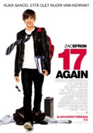 17 Again - Finnish Movie Poster (xs thumbnail)