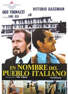 In nome del popolo italiano - Spanish Movie Poster (xs thumbnail)