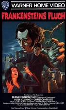 The Curse of Frankenstein - German VHS movie cover (xs thumbnail)