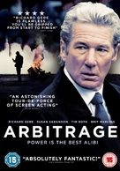 Arbitrage - British DVD cover (xs thumbnail)