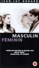 Masculin, féminin: 15 faits précis - British VHS cover (xs thumbnail)