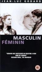 Masculin, féminin: 15 faits précis - British VHS movie cover (xs thumbnail)