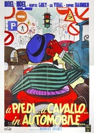 À pied, à cheval et en voiture - Italian Movie Poster (xs thumbnail)