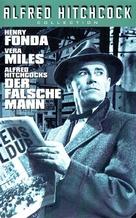 The Wrong Man - German VHS cover (xs thumbnail)