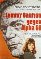 Alphaville, une étrange aventure de Lemmy Caution - German Movie Poster (xs thumbnail)