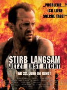 Die Hard: With a Vengeance - German Movie Poster (xs thumbnail)