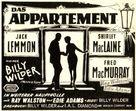 The Apartment - German Movie Poster (xs thumbnail)