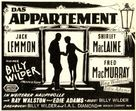 The Apartment - German Movie Poster (xs thumbnail)