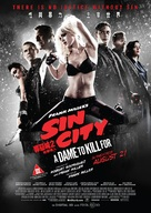 Sin City: A Dame to Kill For - Hong Kong Movie Poster (xs thumbnail)