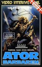 Ator l'invincibile - Danish VHS movie cover (xs thumbnail)