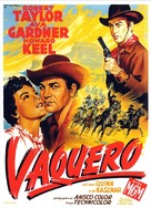 Ride, Vaquero! - French Movie Poster (xs thumbnail)