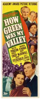 How Green Was My Valley - Re-release movie poster (xs thumbnail)