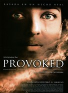 Provoked - Spanish Movie Poster (xs thumbnail)