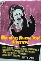 While the City Sleeps - Spanish Movie Poster (xs thumbnail)