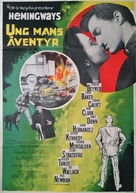 Hemingway's Adventures of a Young Man - Swedish Movie Poster (xs thumbnail)