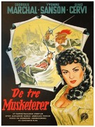 Les trois mousquetaires - Danish Movie Poster (xs thumbnail)