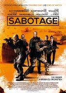 Sabotage - German Movie Poster (xs thumbnail)