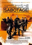 Sabotage - German Movie Poster (xs thumbnail)