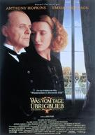 The Remains of the Day - German Movie Poster (xs thumbnail)