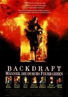 Backdraft - German Movie Poster (xs thumbnail)