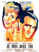 Je suis avec toi - French Movie Poster (xs thumbnail)