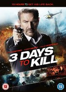3 Days to Kill - British DVD movie cover (xs thumbnail)