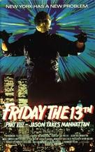 Friday the 13th Part VIII: Jason Takes Manhattan - VHS cover (xs thumbnail)