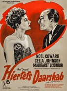The Astonished Heart - Danish Movie Poster (xs thumbnail)