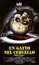 Un gatto nel cervello - Italian VHS cover (xs thumbnail)