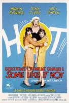 Some Like It Hot - French Re-release poster (xs thumbnail)