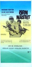 Where Eagles Dare - Swedish Movie Poster (xs thumbnail)