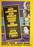 Seven Days in May - Danish Movie Poster (xs thumbnail)