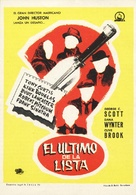 The List of Adrian Messenger - Spanish Movie Poster (xs thumbnail)