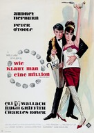 How to Steal a Million - German Movie Poster (xs thumbnail)
