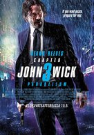 John Wick: Chapter 3 - Parabellum - Finnish Movie Poster (xs thumbnail)