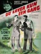 You Only Live Once - Danish Movie Poster (xs thumbnail)