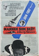 The Man Who Shot Liberty Valance - Swedish Movie Poster (xs thumbnail)