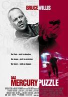 Mercury Rising - German Movie Poster (xs thumbnail)